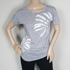 J. CREW GRAY GRAPHIC TEE SHIRT SIZE XS